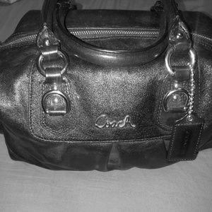 Coach black leather Ashley shoulder bag satchel